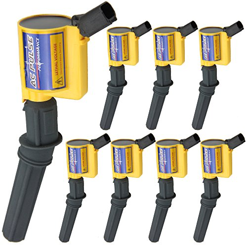 - Mfrdirect Ignition Coil Set (8) 1997 1998 1999 2000 2001 2002 2003 2004 Ford Ford Multispark Blaster Epoxy F150 F-150 E150 E350 4.6L 5.4L 6.8L DG508 (Yellow)
