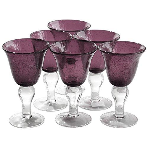 Artland Iris Seeded Plum 8 Ounce Wine Glass, Set of 6 -  50936B