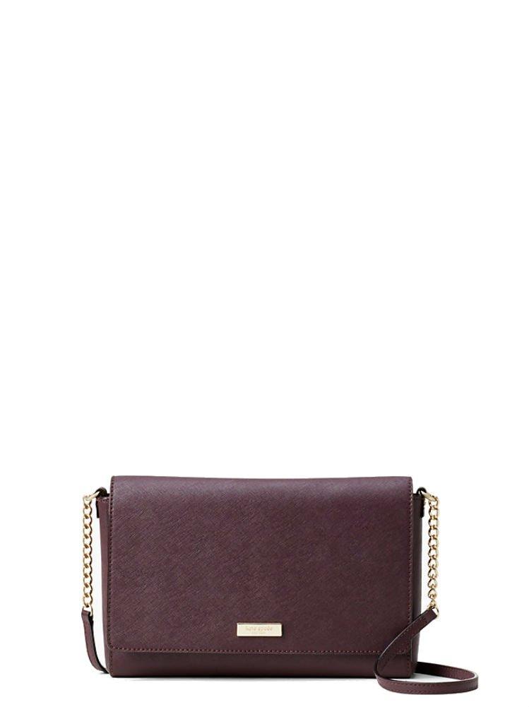 Kate Spade New York Tilden Place Alek Leather Crossbody Handbag (Almondine/Black)