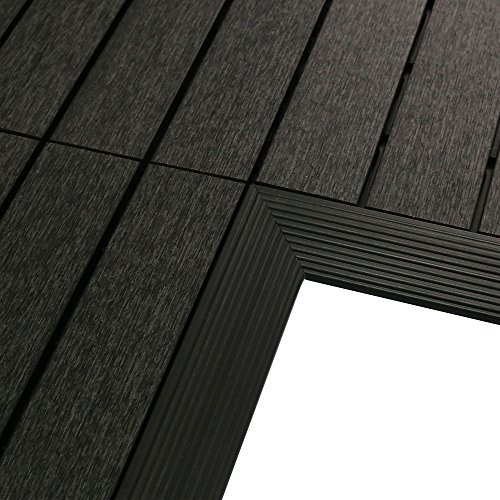 newtechwood us-qd-if-zx-ch 1/1,8x 0,3m. Rápido Composite Deck Azulejos esquina interior recortar en caja de carbón...
