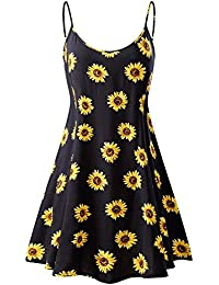 Women's Sleeveless Adjustable Strappy Summer Beach Swing Dress