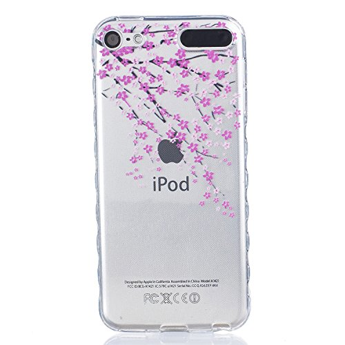iPod Touch 5 Case Clear, iPod Touch 6 Case, Beimu Bright Slim Fit Transparent Hybrid Premium Soft Rubber TPU Gel Silicone Case Protective Cover Skin for Apple iPod Touch 5 - Silicone Premium Ipod Touch