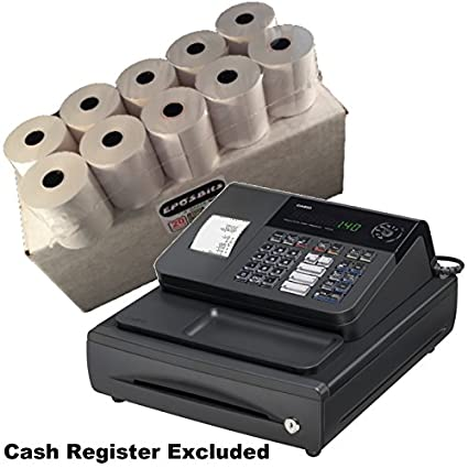 EPOSBITS® - Caja de 20 rollos para caja registradora Casio 140CR ...