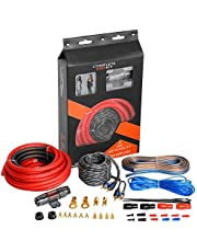 4 Gauge Complete Amp Kit True 4 AWG Amplifier Subwoofer Installation Wiring Wire Install Cables (4 Gauge)