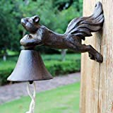 LXYFMS Wrought Iron Doorbell Retro Villa Wind Chime Home Decoration Handbell Crafts 24.5x10x15cm Cast Iron doorbell