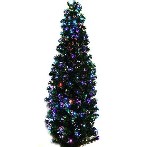 4' Pre-Lit Fiber Optic Green Artificial Christmas Tree LED Multicolor Light (4ft Christmas Optic Tree Fibre)