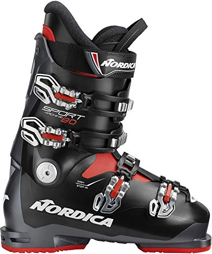 Nordica Sportmachine 80 Ski Boots Anthracite/Black/Red Mens Sz 11.5 (29.5)