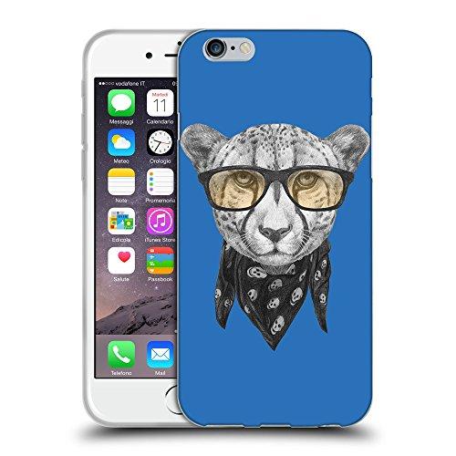 GoGoMobile Coque de Protection TPU Silicone Case pour // Q05030608 Foulard cheetah Azur // Apple iPhone 7
