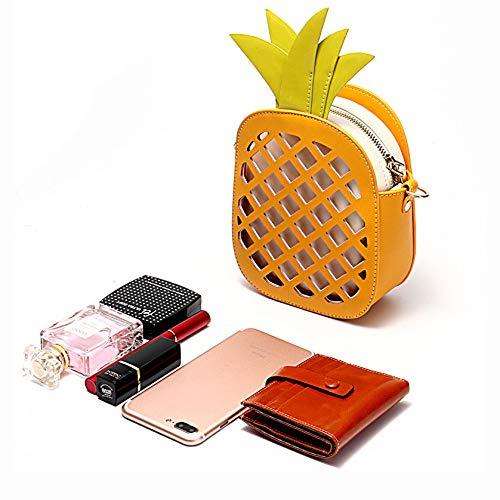 Borsa Crossbody A Ananas Fashion XCXDX A Ragazze In Creativo Bag Spalla Pelle Yellow Di Forma Pink Borsa Singolo 4BvSqU