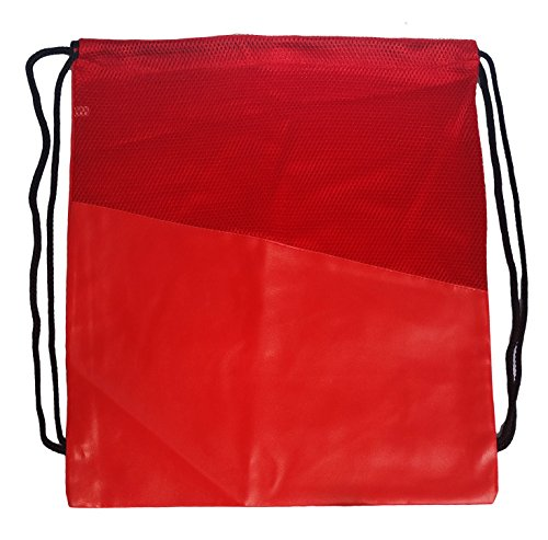 Mesh Drawstring Backpack Sackpack, Team Color (Red)