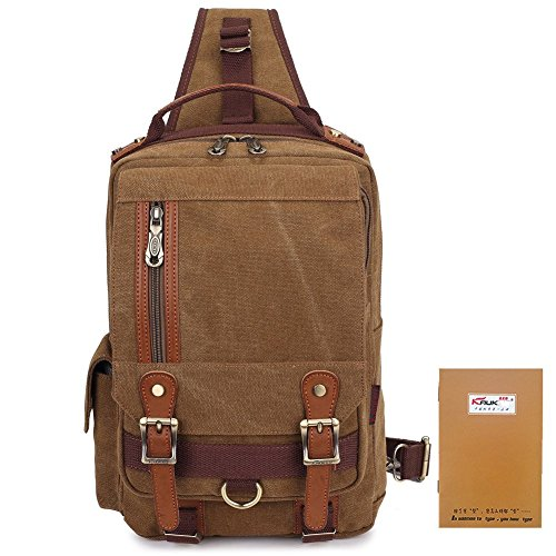 Travel Outdoor Computer Backpack Laptop bag small(khaki) - 4