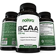 Amazon Lightning Deal 68% claimed: Top Rated BCAA Capsules | Most Potent Branched Chain Amino Acids on Amazon | The Best Natural Bodybuilding Supplement for Muscle Recovery, Muscle Building and Weight Loss | 60 Capsules
