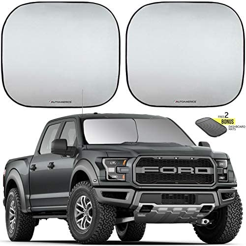 Autoamerics Windshield 2 Piece Foldable Sunshade product image