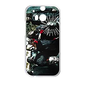 HTC One M8 Cell Phone Case White Heavy Metal Band Slipknot Custom Case Cover A11A561779