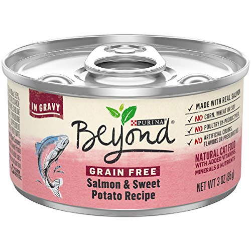 Purina Beyond Grain Free Natural Gravy Wet Cat Food, Salmon & Sweet Potato, 3 oz (Pack of 12)