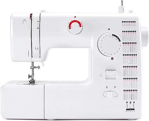 Máquina de coser eléctrica para el hogar, Máquina de coser liviana portátil con iluminación LED, 59 puntadas incorporadas Máquina de coser de alta resistencia Herramienta de costura rápida Overlock: Amazon.es: Hogar