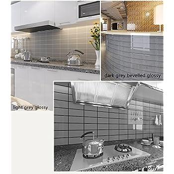 3x6 Gray Glossy Crackle Glazed Subway Ceramic Tile