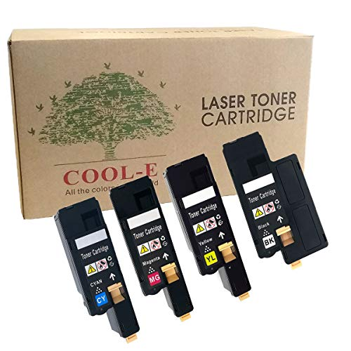 Cool-e Compatible Toner Cartridge Replacement for Dell E525W E525 525 for Dell E525W Color Laser Printer, 4 Pack (593-BBJX 593-BBJU 593-BBJV 593-BBJW)