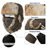 Fancet Mens Large Head Womens Wool 100% Rabbit
