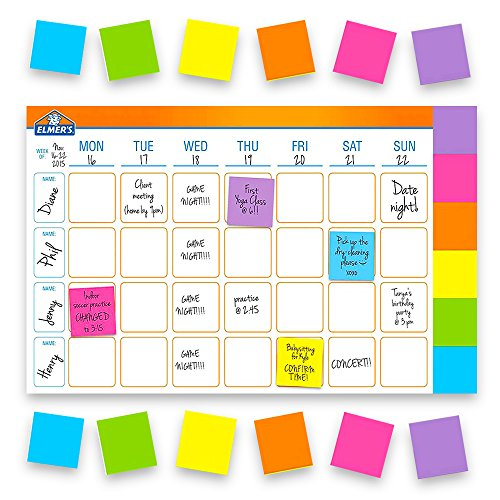 - Elmer's Undated Weekly Planner Pad -- Deluxe Perpetual 52 Week Desk Pad Calendar with 300 Adhesive Notes (18x12 Inch Format)