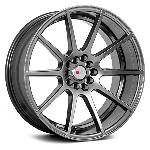 (18x9.5 F1R F17 Hyper Black Rim Offset(20) Lug(5x100/5x114.3) Bore(73.1) 1 Wheel --)