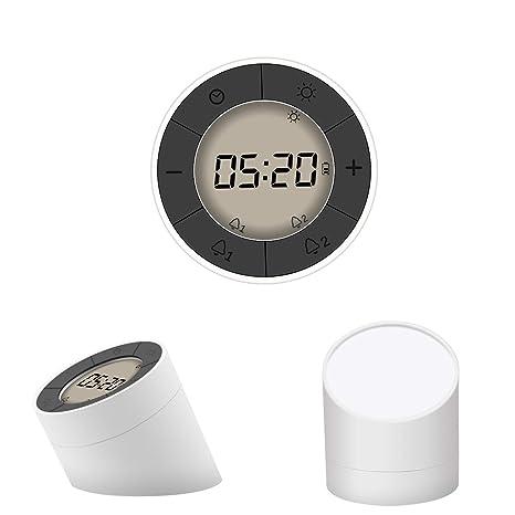 Despertador,Glisteny Reloj Despertador LED Digital con Luz de Noche,con Función Snooze,
