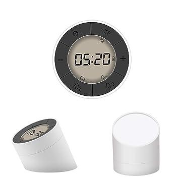 Horloge Numérique,GLISTENY Horloge Digital LCD 2 Modes, Réveil ...