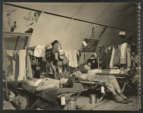 Photo  American Soldier At A Base In Guam Sleeping In Barracks  World War Ii  Wwii  1945   Size  8X1