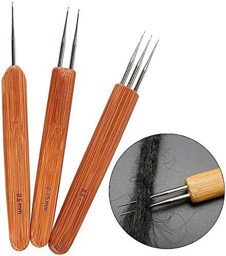 [해외]3 PcsSet Crochet Hook Needle Bamboo Dreadlocks Weaving Tool Braid Craft(0.5mm1 Hook 0.75mm2 Hooks0.5mm 3 Hooks) / 3 PcsSet Crochet Hook Needle Bamboo Dreadlocks Weaving Tool Braid Craft(0.5mm1 Hook, 0.75mm2 Hooks,0.5mm 3 Hooks)