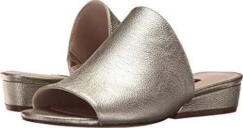 Nine West Womens Lynneah Leather Mule Light Gold Metallic mqnW9W
