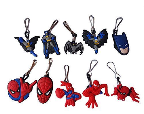 [AVIRGO 10 pcs Zipper Pull Charms for Jacket Backpack Bag Pendant Set # 122 - 2] (Batman Forever Catwoman Costume)