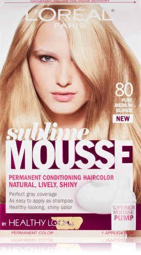 L'Oréal Paris Sublime Mousse par une apparence saine Couleur des cheveux, 80 Pure Medium Blonde