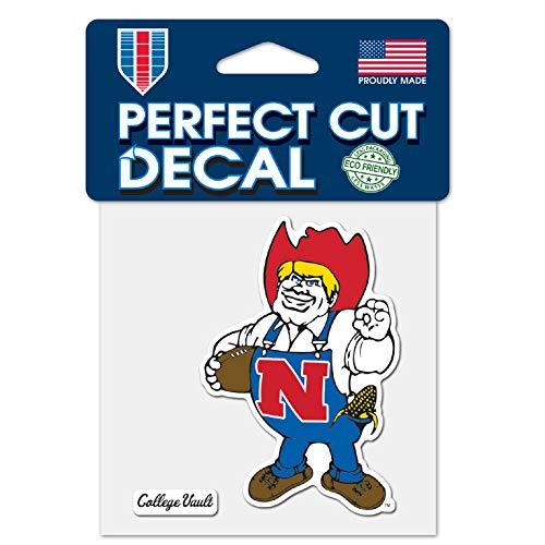 "WinCraft Nebraska College Vault 4""x4"" Perfect Cut Die Cut Decal"