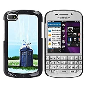 BlackBerry Q10 , Dr Wh0 - Police Booth - Cáscara Funda Case Caso De Plástico