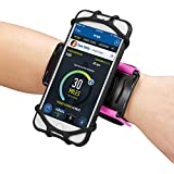 Newppon 180° Rotatable Phone Wristband :for iPhone Xs Max Xr X 6s 7 8 Plus Samsung Galaxy S9+ S8 S7 Edge Samsung Note Google Pixel LG for Jogging Running Cycling Hiking Sports Armband