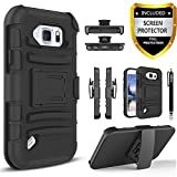 Galaxy S6 Active Case,Samsung Galaxy S6 Active Case, Combo Rugged Shell Holster
