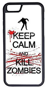 iPhone 6 Case, CellPowerCasesTM Keep Calm Kill Zombies [Flex Series] -iPhone 6 (4.7) Black Case [iPhone 6 (4.7) V1 Black]