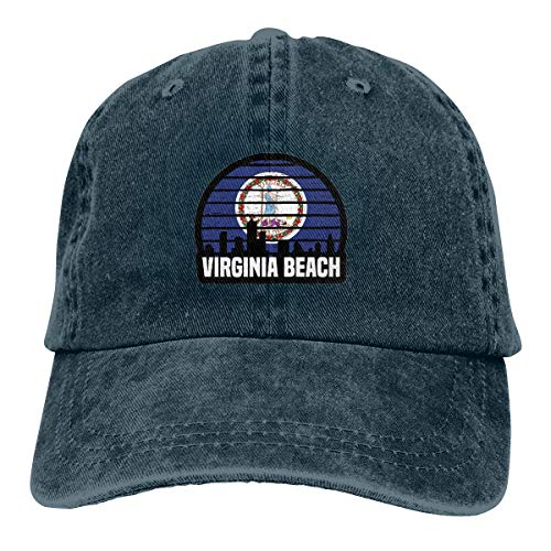 Virginia Beach VA Group City Trip Silhouette Flag Adjustable Sport Jeans Baseball Golf Cap Hat Unisex Style Navy for $<!--$12.89-->