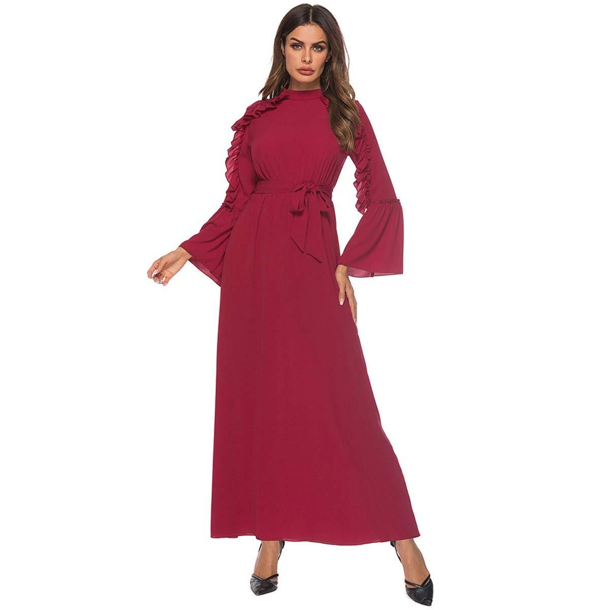 Amazon.com: 2019 Nuevo. Vestido musulmán para mujer, vestido ...