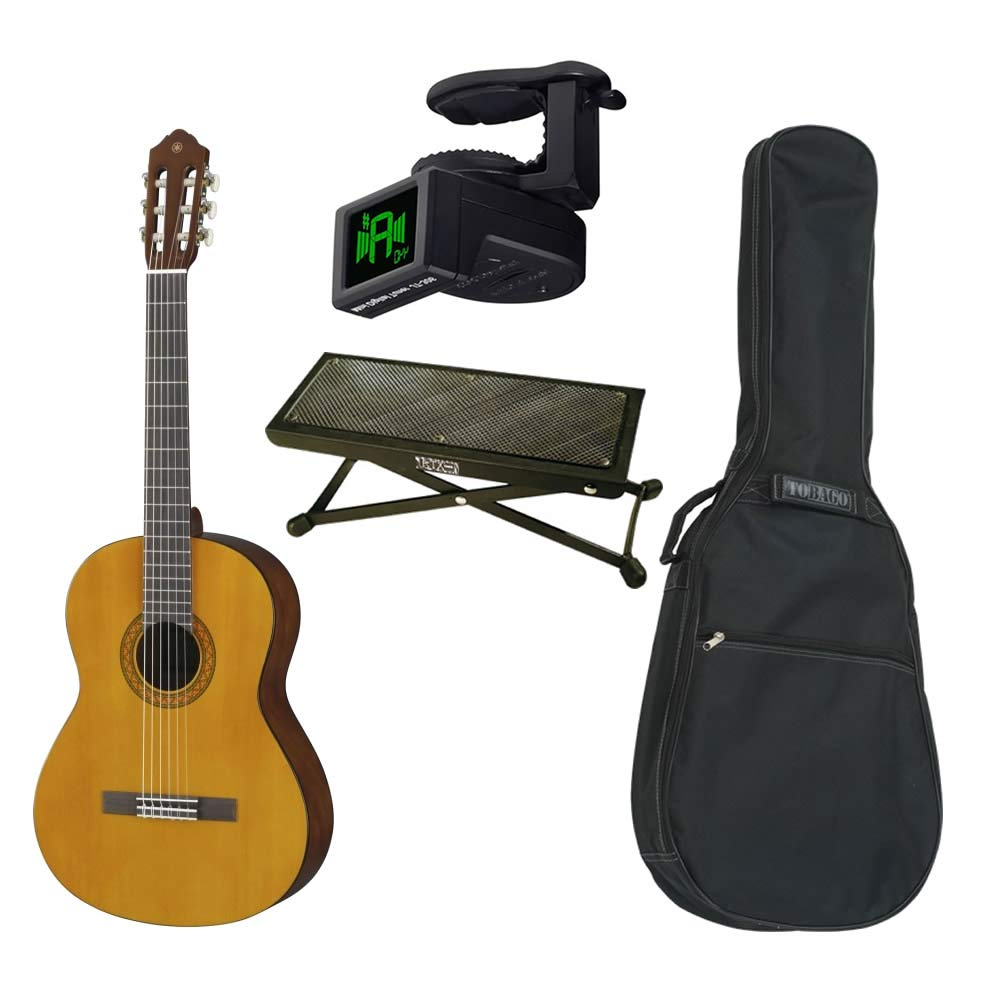 Guitarra clásica Yamaha C40 4/4 + funda + reposapiés + afinador ...