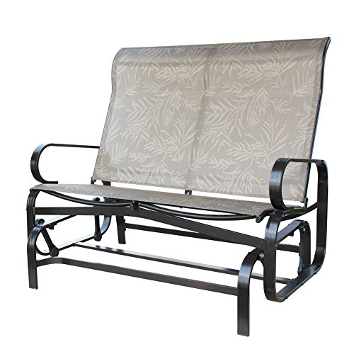 Save 20 Patiopost Glider Bench Outdoor 2 Person Loveseat Chair Patio Porch Swing With Rocker