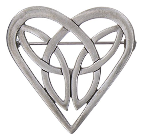 - Quantum Silver-Plated Celtic Heart Trinity Pin