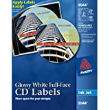 Avery Full-Face CD Labels for Inkjet Printers, Glossy White, 20 Disc Labels and 40 Spine Labels  (8944)