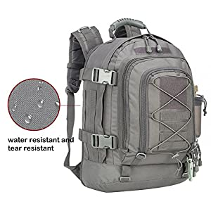 40L Outdoor Expandable Tactical Backpack Military Sport Camping Hiking Trekking GYM Bag (08001A Grey)