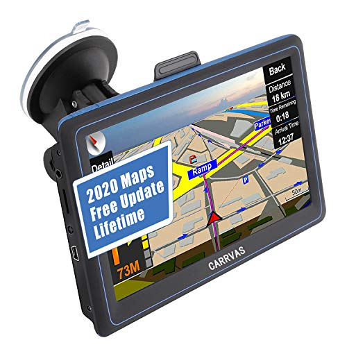 CARRVAS GPS, GPS Navigator for Car Vehicle GPS Portable GPS Navigation for Car (7, Black)