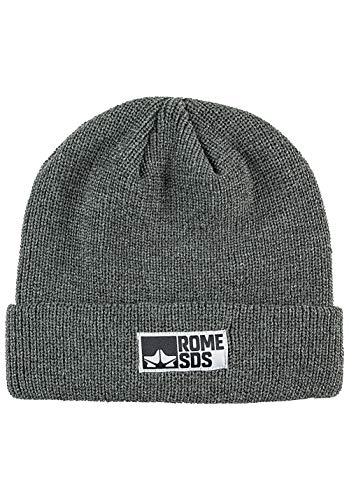 Rome Snowboards Graphic Snowboarding Logo Beanie Hat, Syndicate Heather Charcoal, One Size -