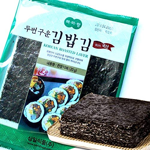 Korean Seaweed Roasted Twice Full Size 10 sheets x 6 packs by Samil Food
