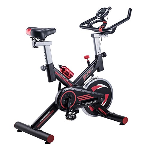 Pinty Stationary Exercise Bike Indoor Cycling Bike Trainer Adjustable Exercise Bicycle with Phone Holder &Screen for Health & Fitness, Load Capacity 330lb.