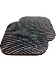 """Isolate It: Sorbothane Vibration Isolation Reinforced Heavy Duty Square Pad (6"""" x 6"""" x 1/4"""" Thick) - 2 Pack"""