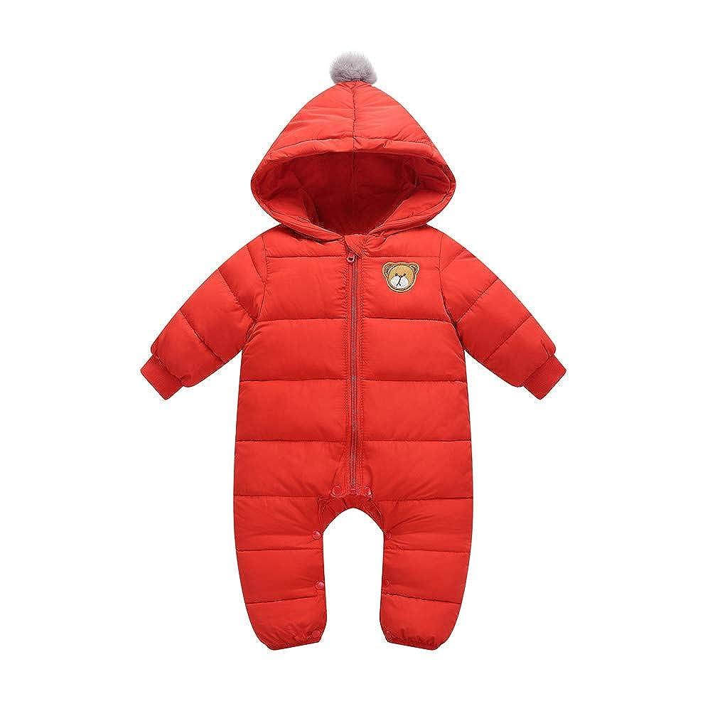 Minizone B/éb/é Combinaison De Neige Barboteuse /À Capuche Coton Jumpsuit Hiver Tenues 9-24 Mois